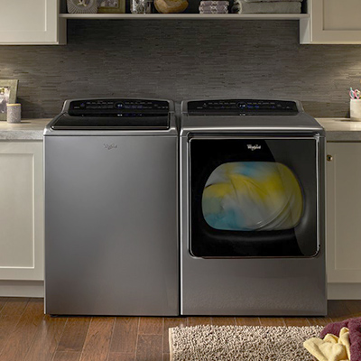 "Whirlpool Smart Washer and Dryer, Example of the ""Top Tech Trends from CES"""